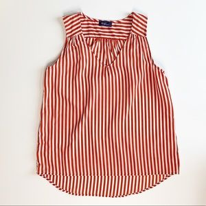 WISH BRAND RED AND WHITE STRIPED TANK